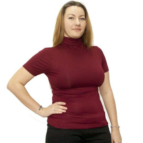 Дамско поло с къс ръкав в различни цветове
