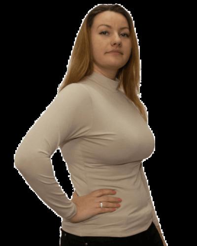Дамско полуполо с дълъг ръкав