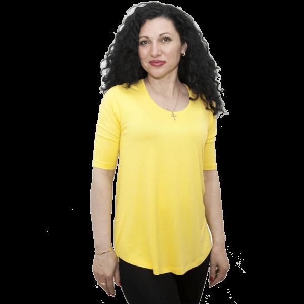 Туника Ла Синьора, жълта
