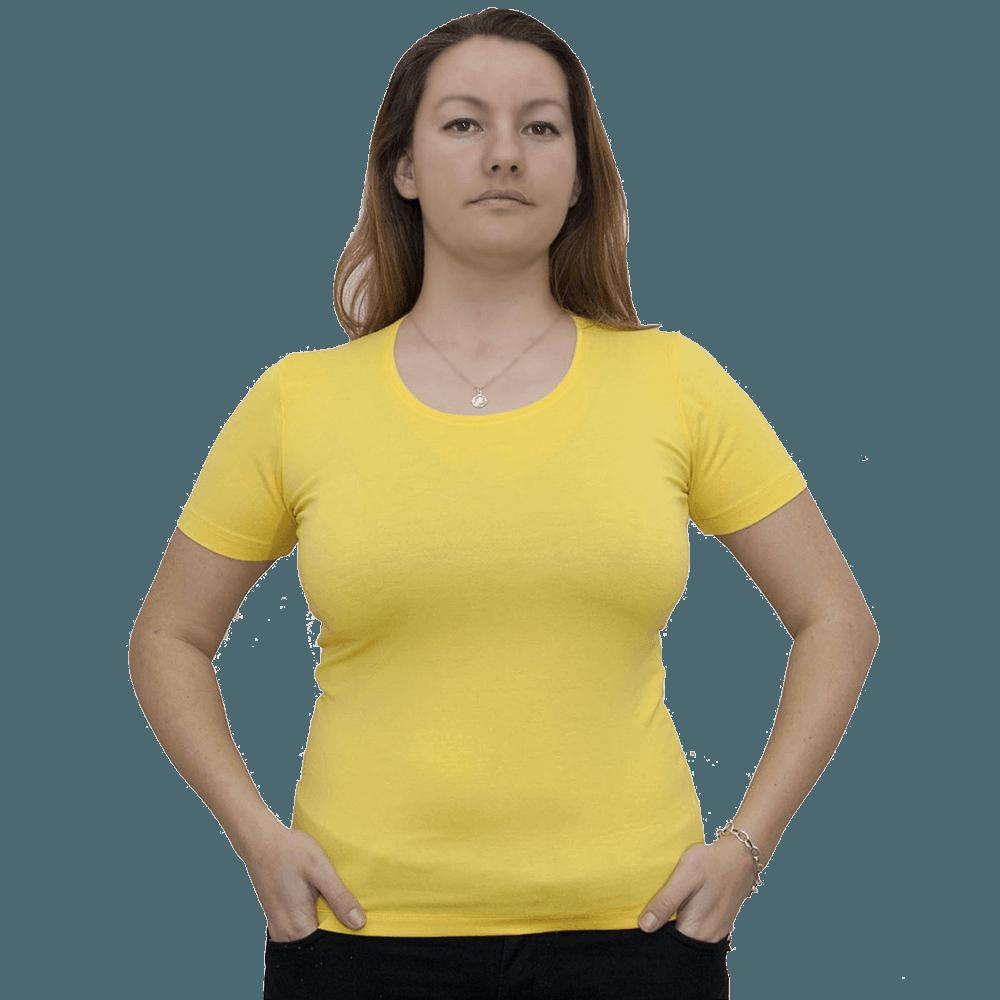 Дамска блуза с къс ръкав, жълтa