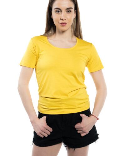 Дамска блуза с къс ръкав жълтa