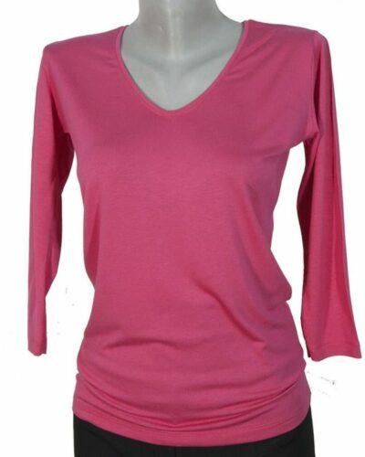 Блуза със 7/8 ръкав цикламен цвят