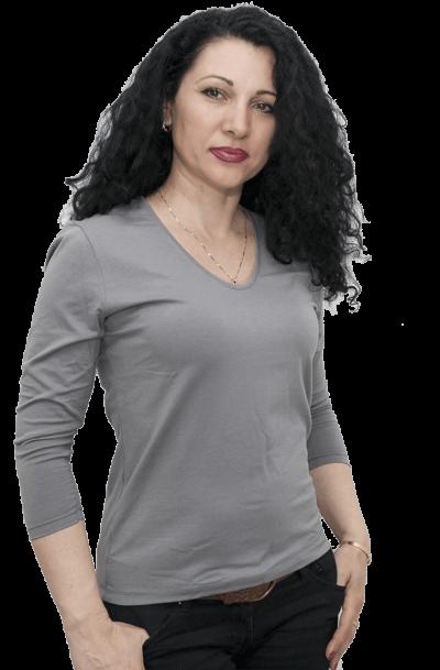 Блуза със 7/8 ръкав сива