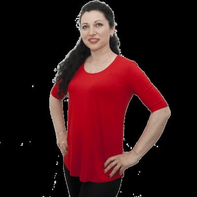 Туника Ла Синьора,червена