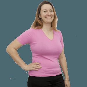 Дамска блуза с къс ръкав, розова