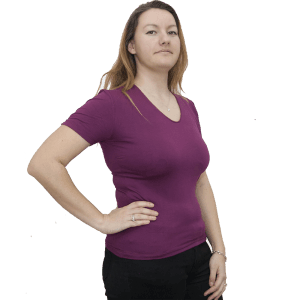 Дамска блуза с къс ръкав, тъмно лилава