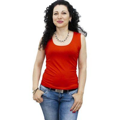 Блуза без ръкав червена