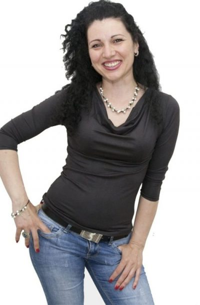 Блуза с гръцко деколте черна