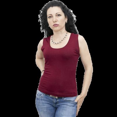 Блуза без ръкав бордо