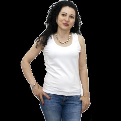 Блуза без ръкав, бяла