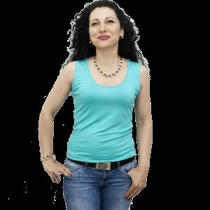 Дамска блуза без ръкав, зелен лъч