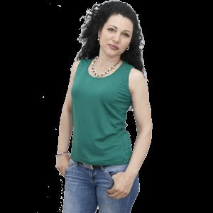 Блуза без ръкав, зелена