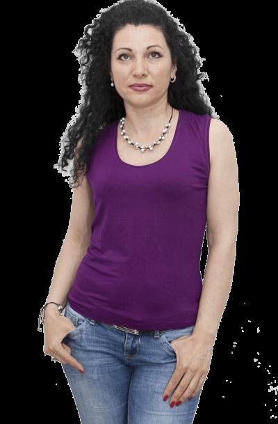 Блуза без ръкав лилава
