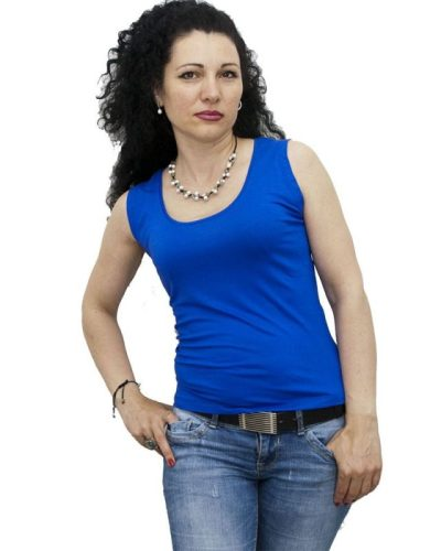 Блуза без ръка турско синя