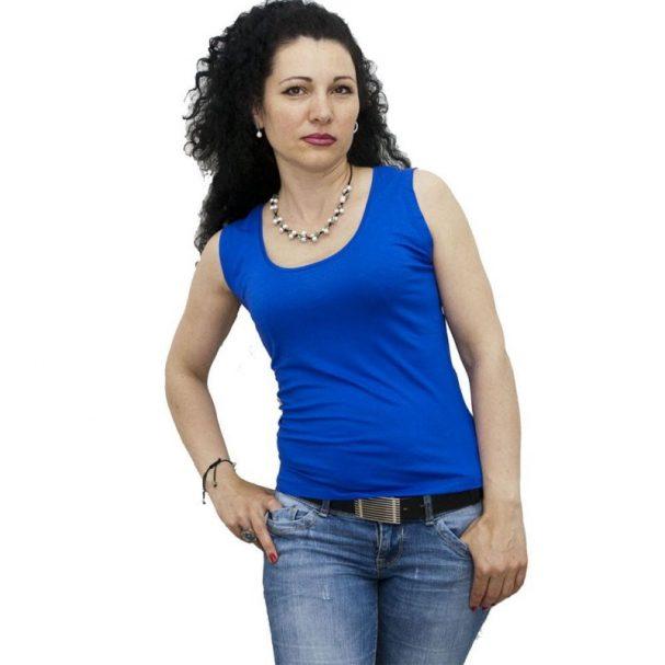 Блуза без ръкав турско синя