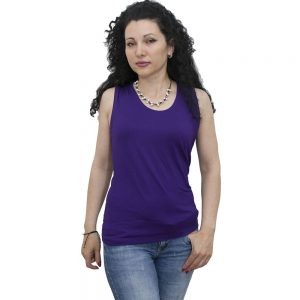 Блуза без ръкав, тъмно синя