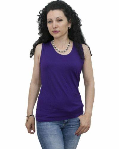 Блуза без ръкав тъмно синя