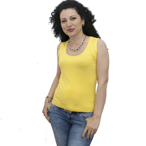 Блуза без ръкав, жълта