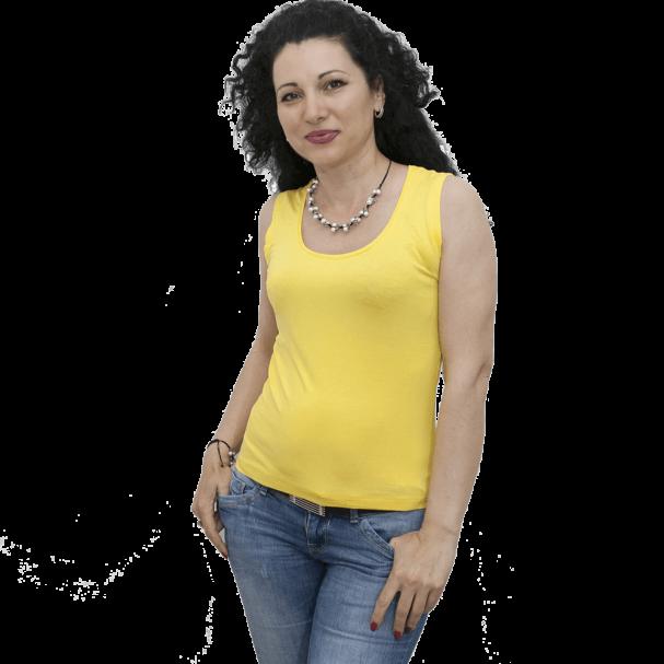Блуза без ръкав жълта