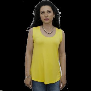 Туника Ла Синиора без ръкав едноцветна