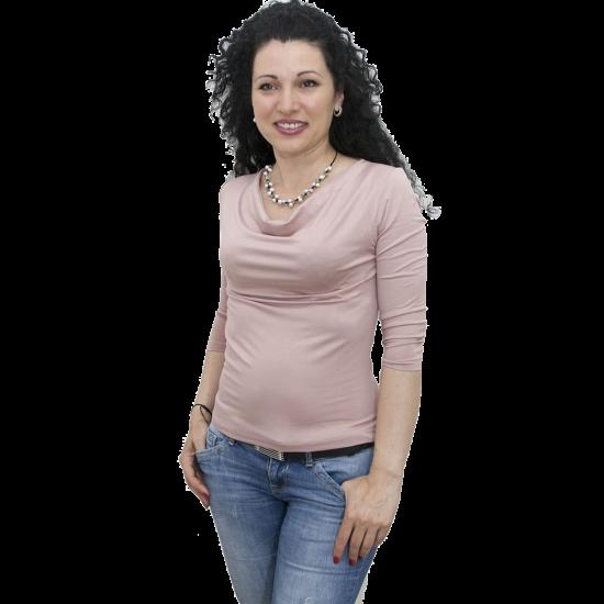 bluza-s-gratsko-dekolte-pepel-ot-rozi