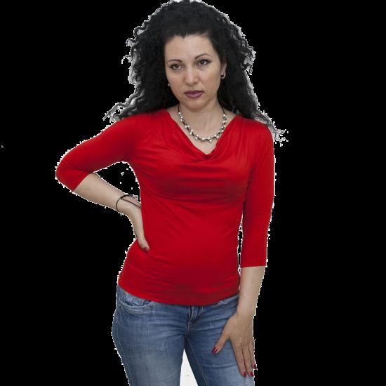 bluza-s-gratsko-dekolte-chervena