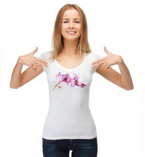 Блуза с розова орхидея