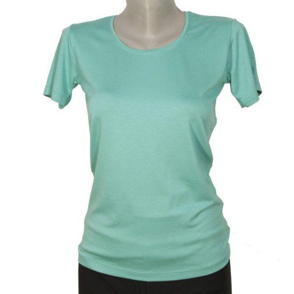 Дамска блуза с къс ръкав светло зелена