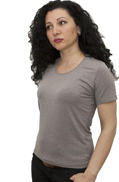 Дамска блуза с къс ръкав сива