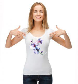 Блуза с орхидея