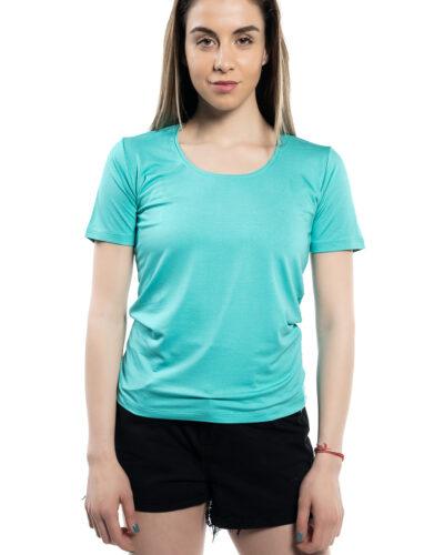 Дамска блуза с къс ръкав ментов цвят