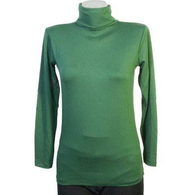Дамско поло маслено зелено