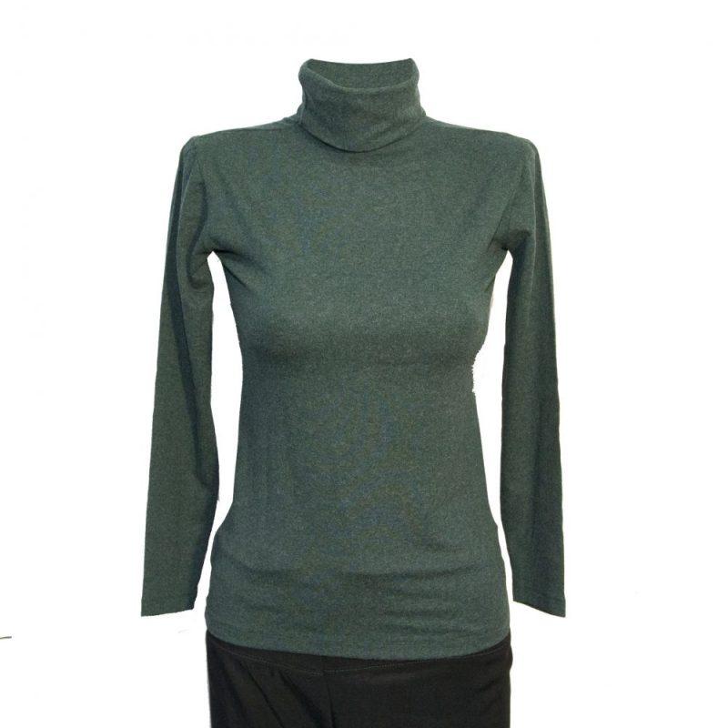 Дамско поло от ангора, зелен цвят