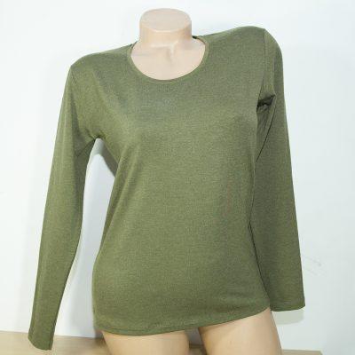 Дамска блуза с ангора, цвят маслина