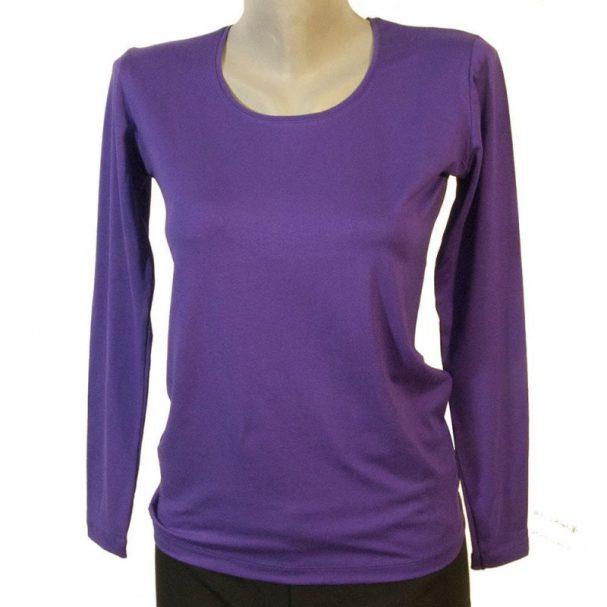 Дамска блуза цвят лилав