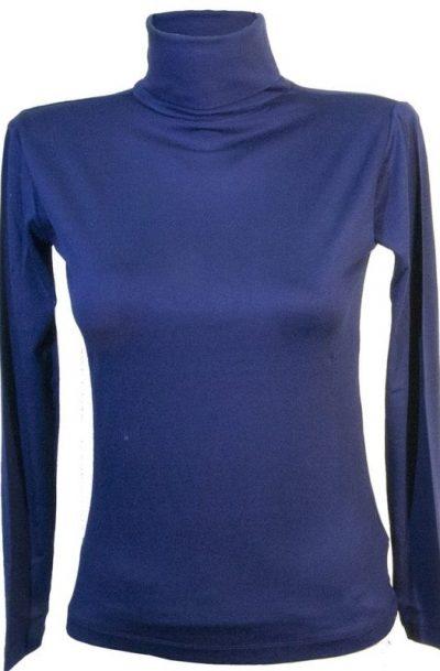 Дамско поло тъмно син цвят