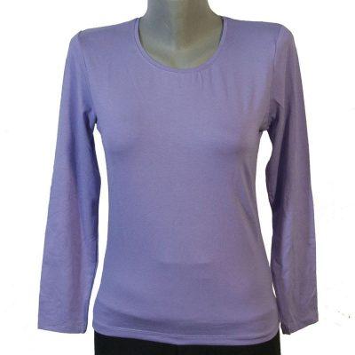 Дамска блуза светло лилаво цвят