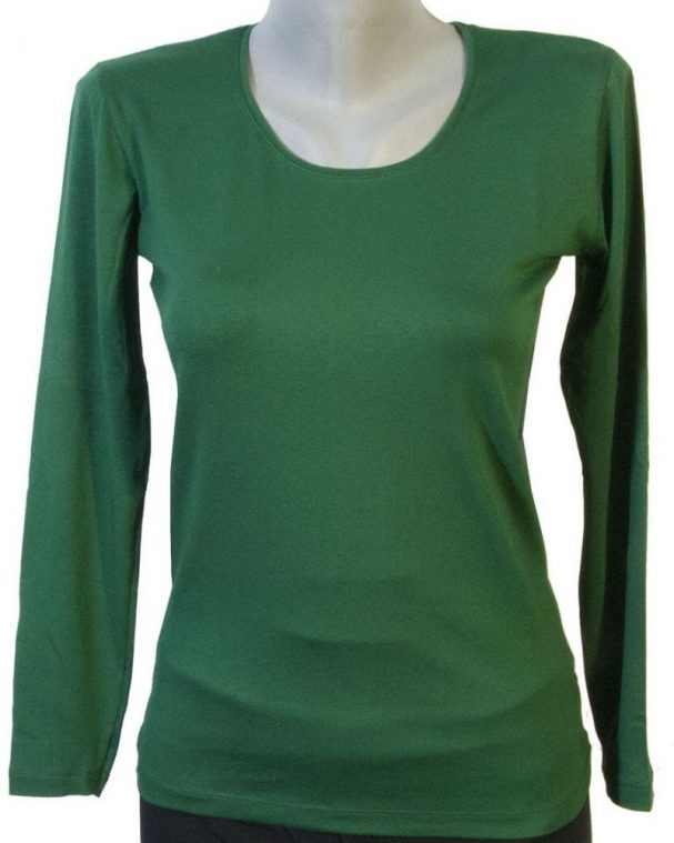 Дамска блуза тъмно зелен цвят
