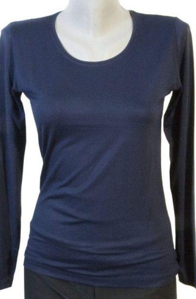 Дамска блуза тъмно син цвят