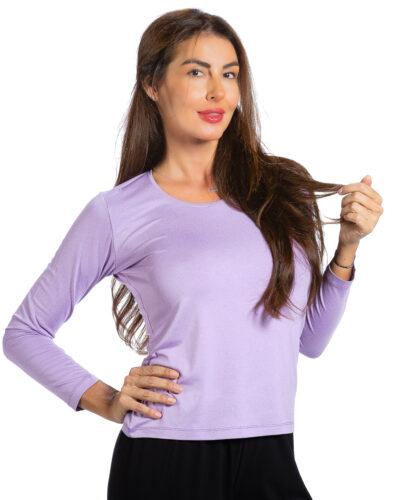 Дамска блуза светло лилав цвят