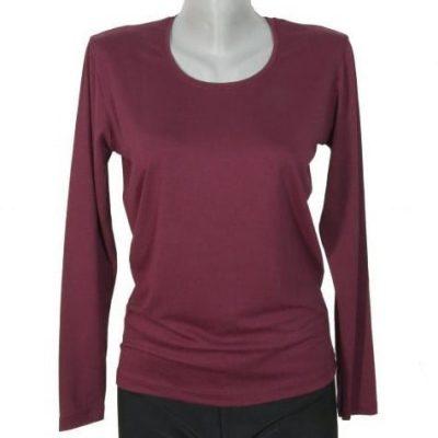 Дамска блуза цвят бордо