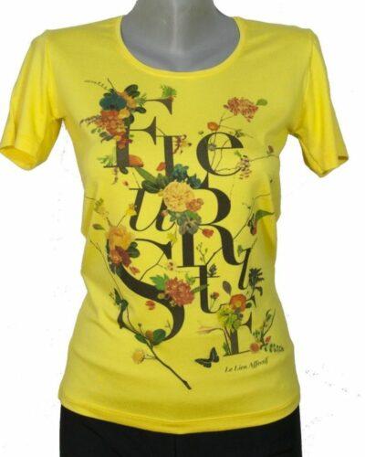 Блуза с букви и цветя