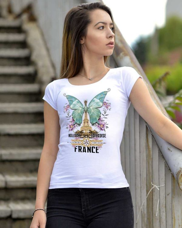 Дамска тениска пеперуда дизайн