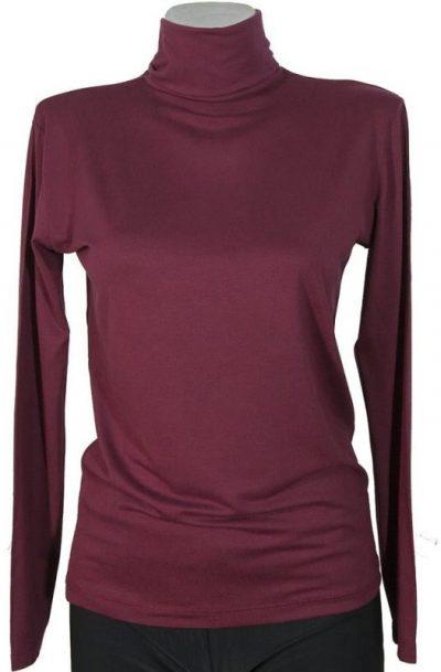 Дамско поло цвят бордо