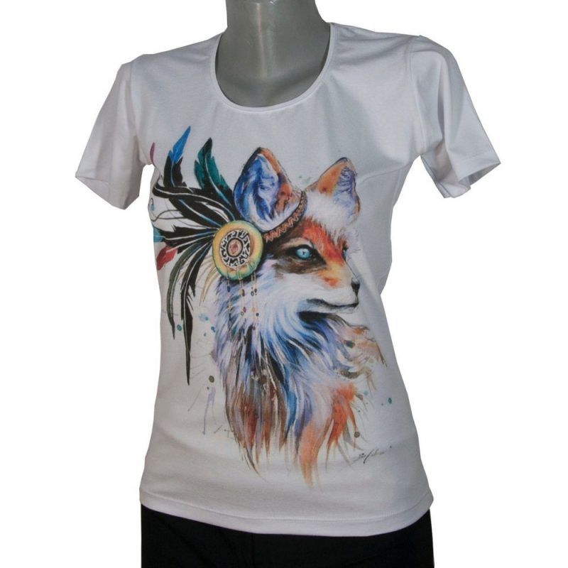 Дамска тениска с лисица