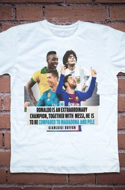 Тениска с Роналдо Меси Пеле и Марадона