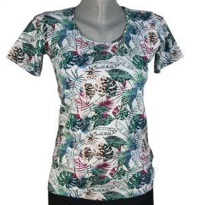Дамска блуза с джунгла листа