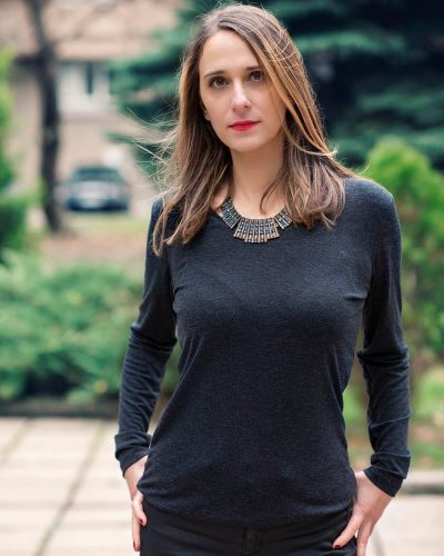 Дамска блуза с ангора черен цвят