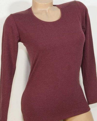 Дамска блуза с ангора цвят бордо
