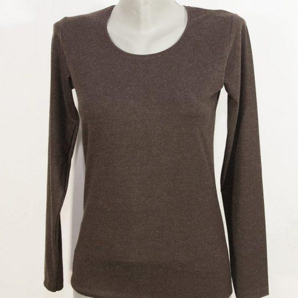 Дамска блуза с ангора кафяв цвят